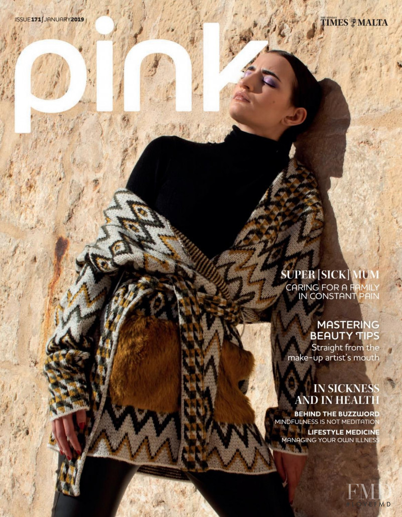 Gabriella Mifsud featured on the Pink Malta cover from January 2019