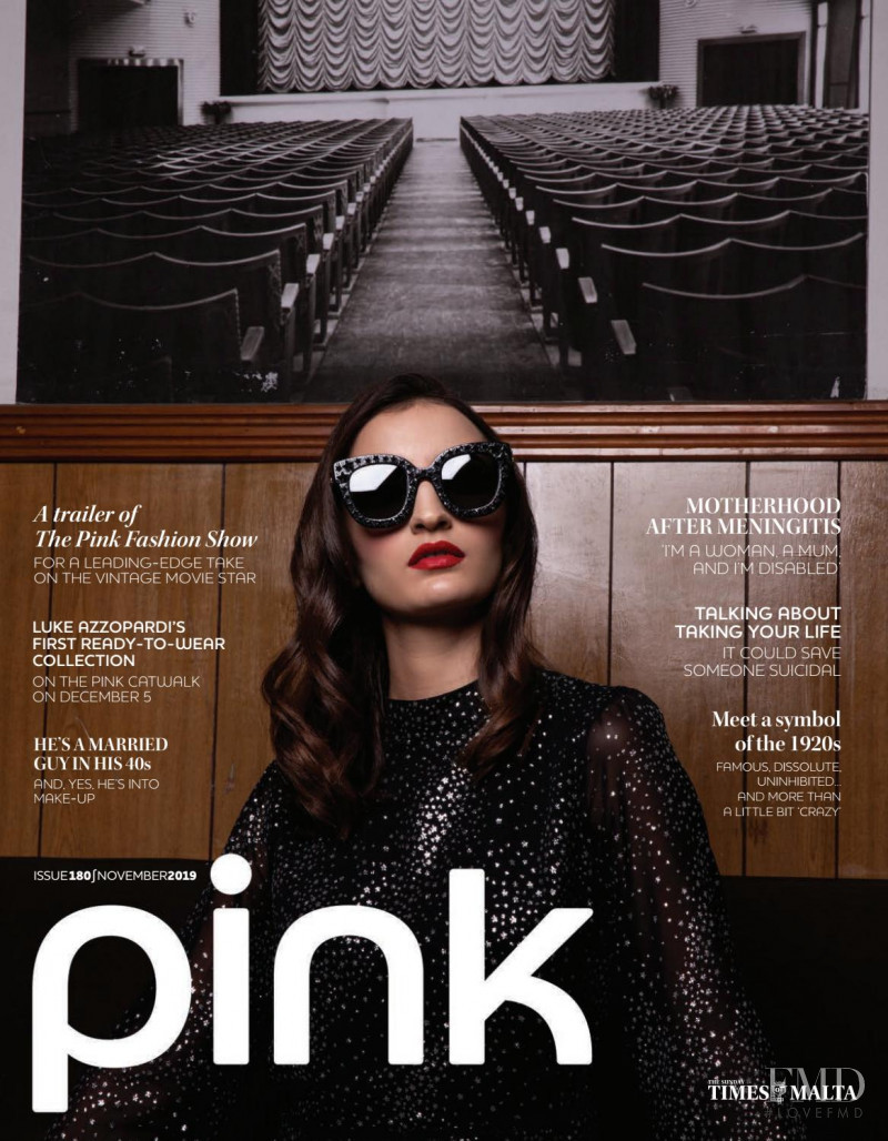 Gabriella Mifsud featured on the Pink Malta cover from November 2019