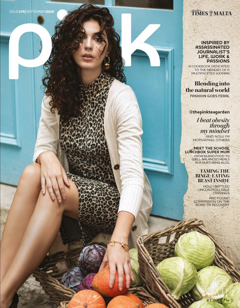 Julia Cluett featured on the Pink Malta cover from September 2019