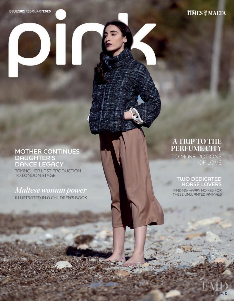 Raissa Baldacchino featured on the Pink Malta cover from February 2020