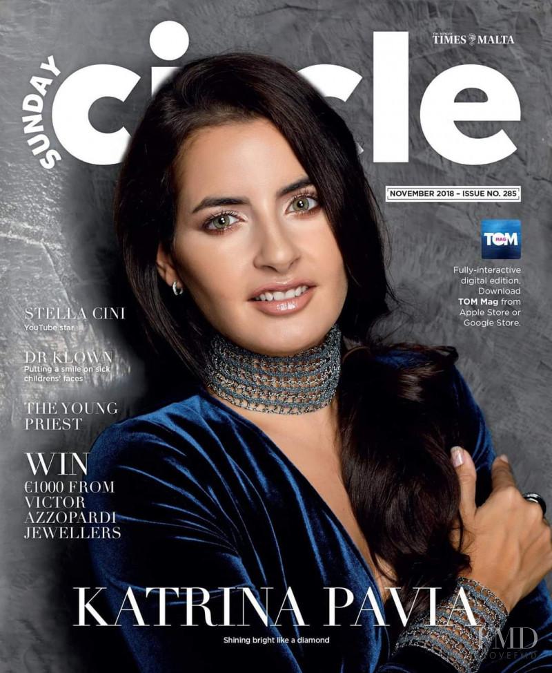 Katrina Pavia featured on the Sunday Circle cover from November 2018
