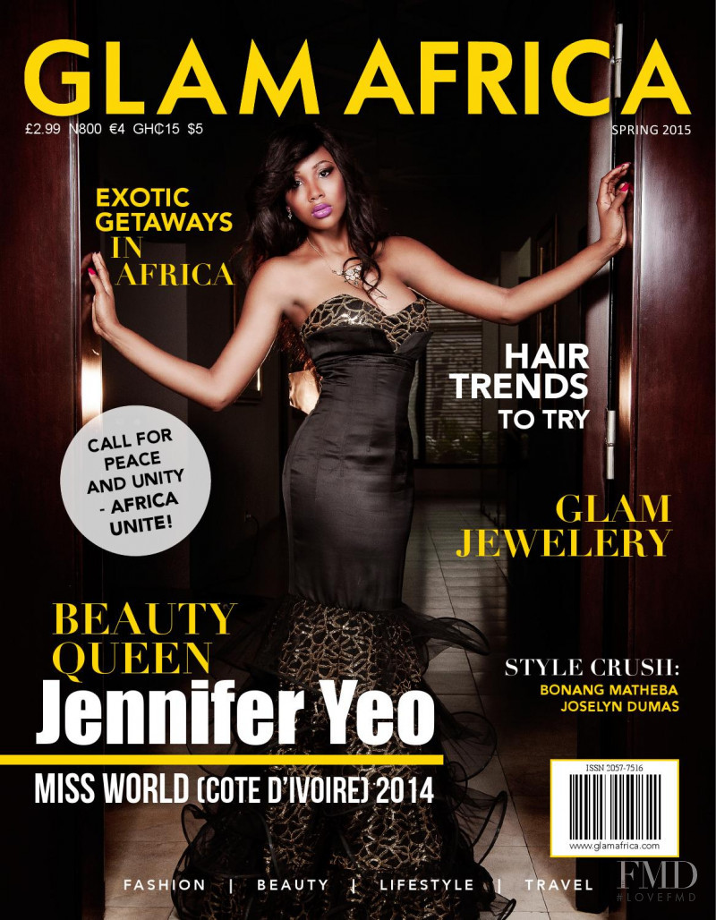 Jennifer Yeo featured on the Glam Africa cover from March 2015
