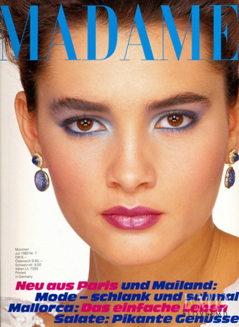 Daniela Ghione featured on the Madame cover from July 1983