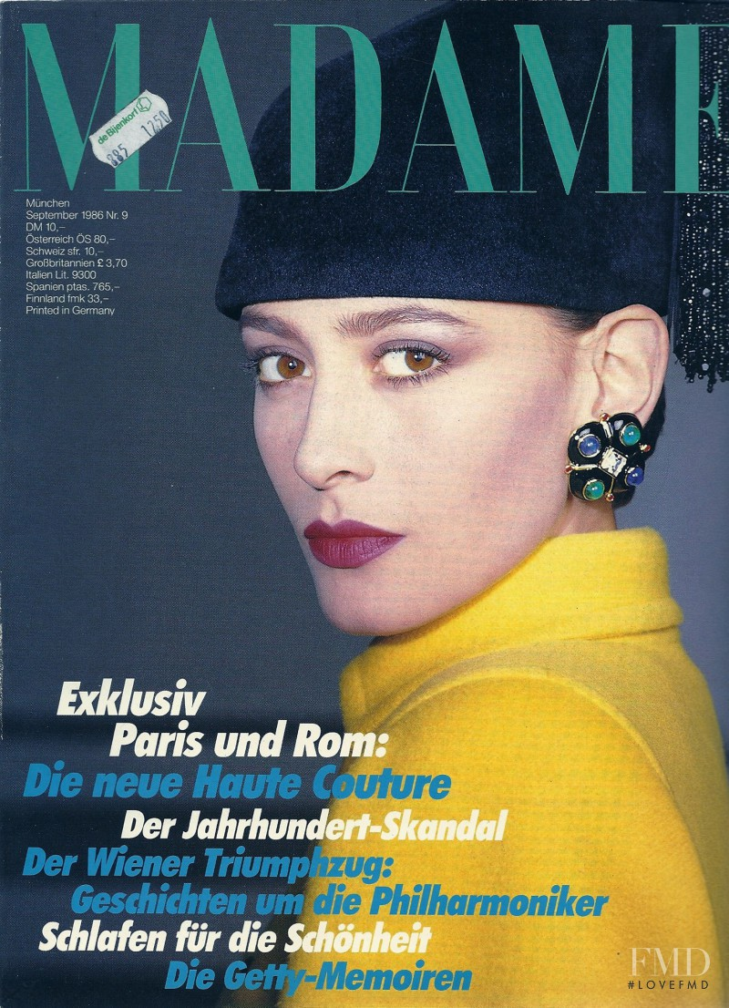Cynthia Anthonio featured on the Madame cover from September 1986