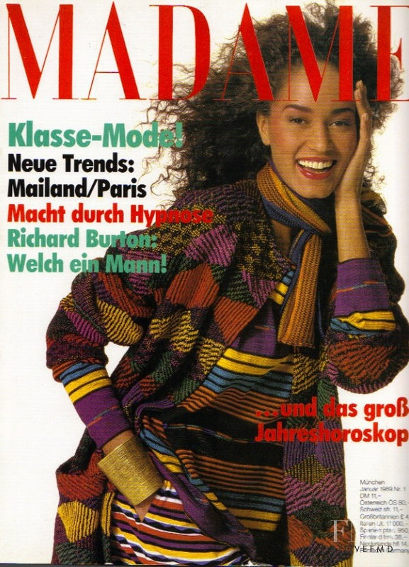 Ann Fiona Scollay featured on the Madame cover from January 1989