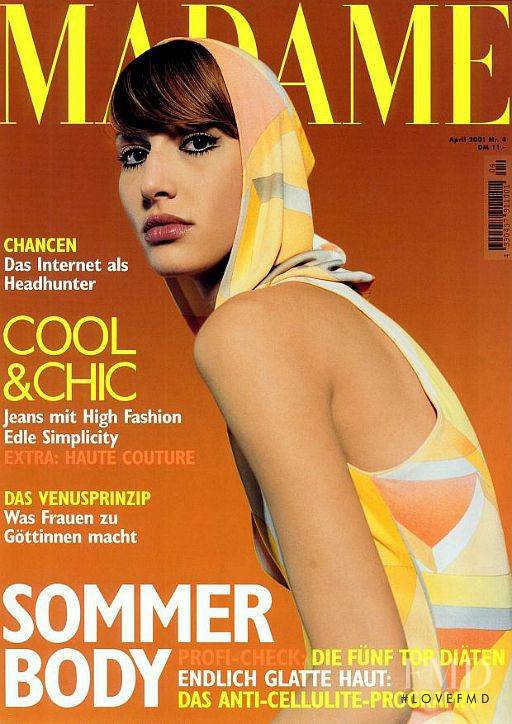 Ulla van Zeller featured on the Madame cover from April 2001
