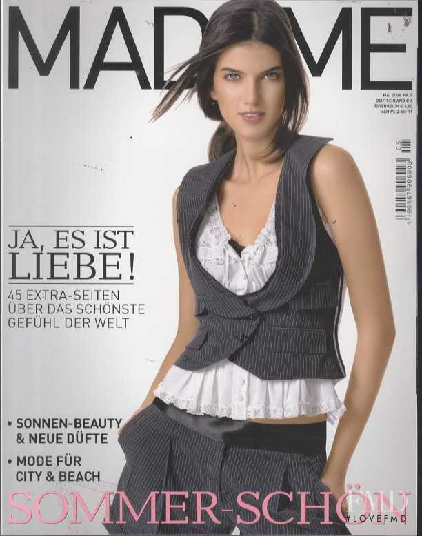 Karoline Amaral featured on the Madame cover from May 2006
