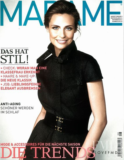 Magdalena Kozinska featured on the Madame cover from August 2008