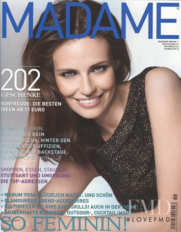 Magdalena Kozinska featured on the Madame cover from November 2008