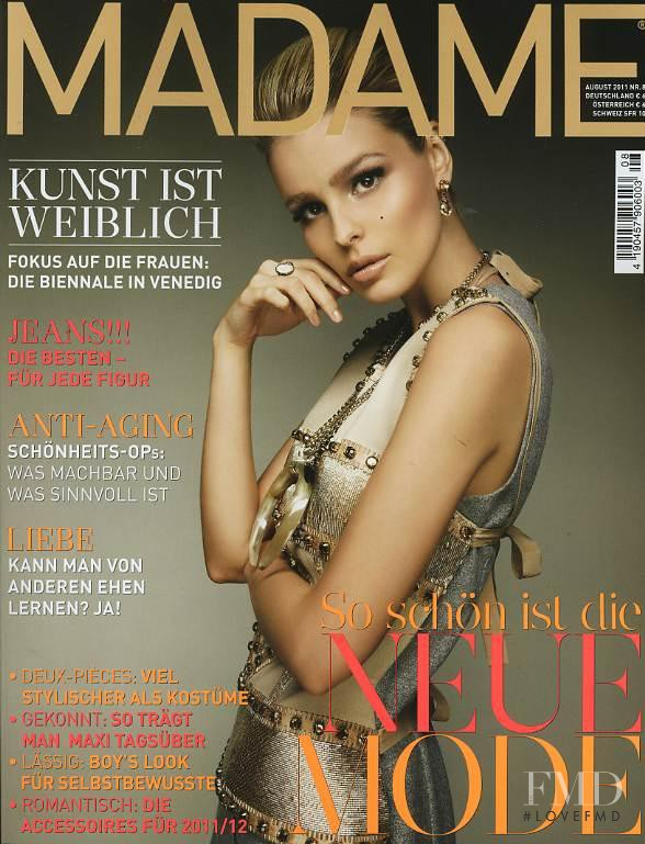 Katsia Domankova featured on the Madame cover from August 2011