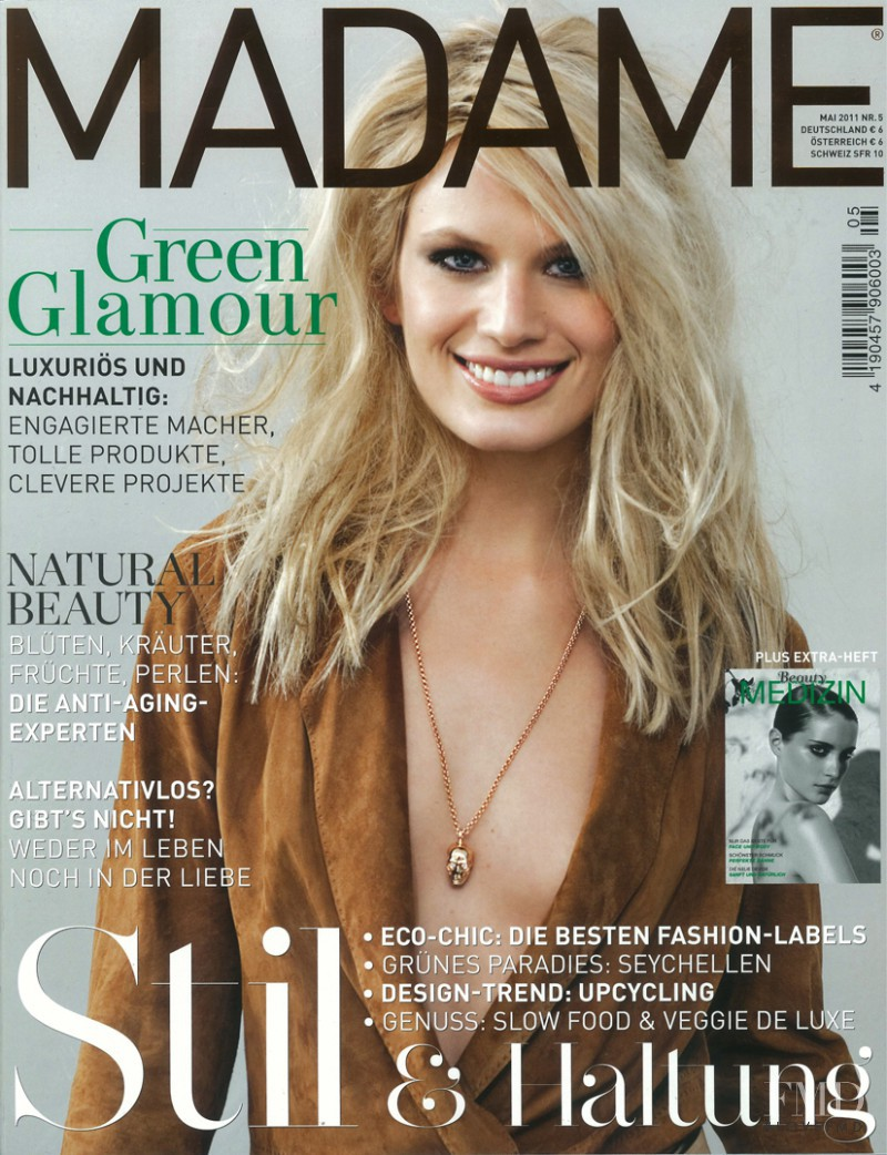 Vicky Andren featured on the Madame cover from May 2011