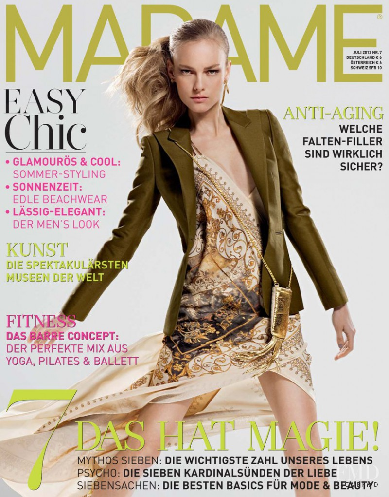 Ania Kisiel featured on the Madame cover from July 2012