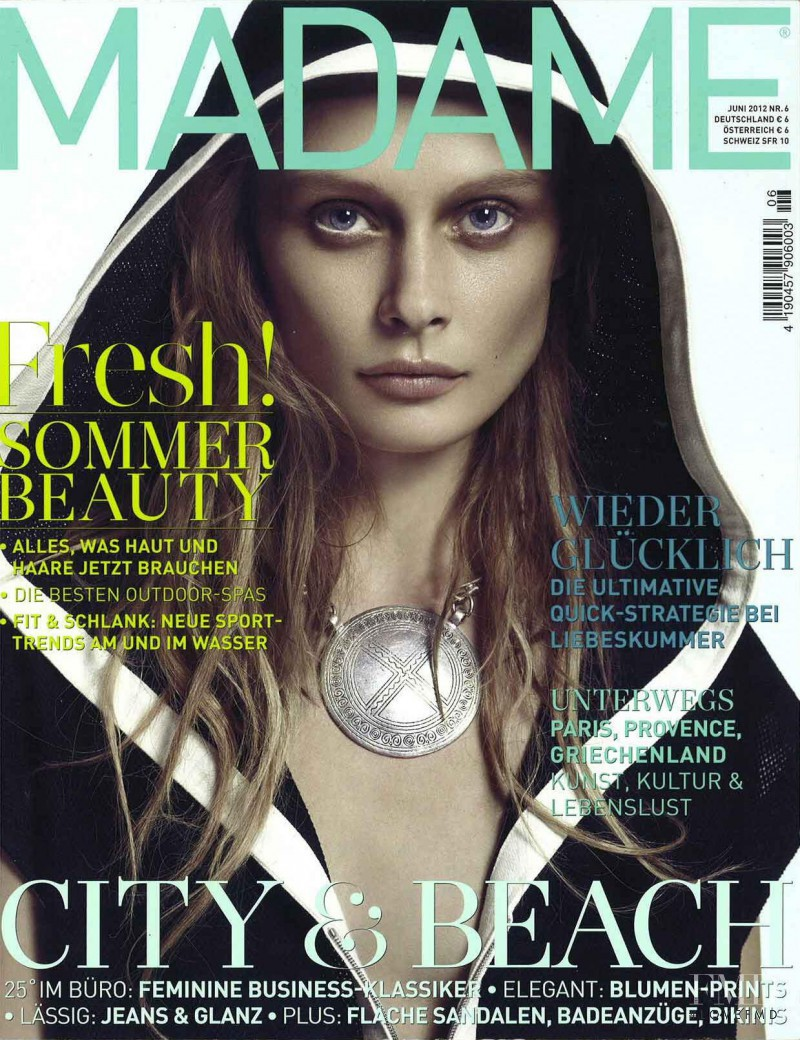 Inguna Butane featured on the Madame cover from June 2012