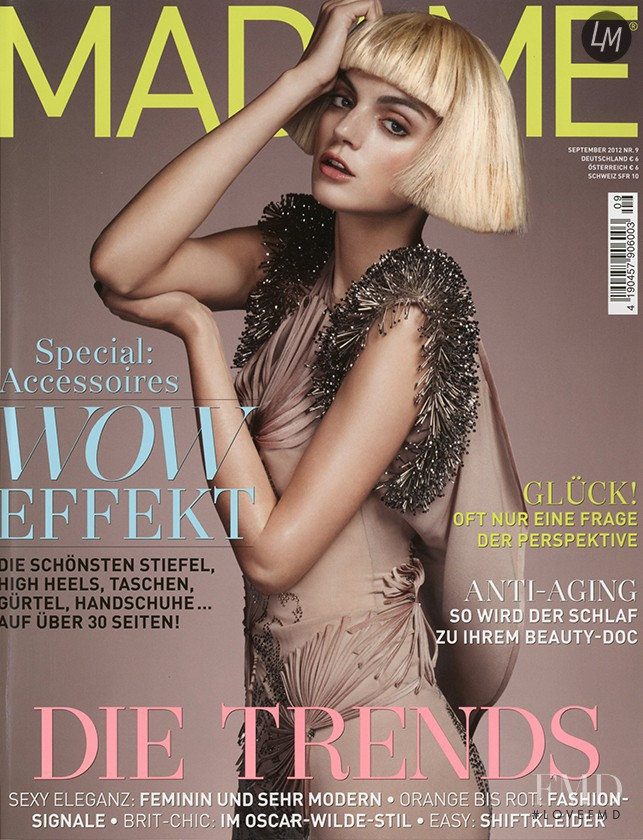 Alexa Corlett featured on the Madame cover from September 2012