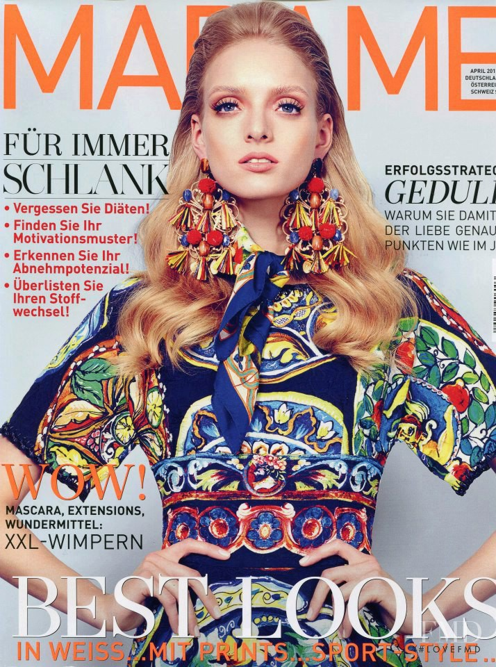 Stazia Niementowska featured on the Madame cover from April 2013
