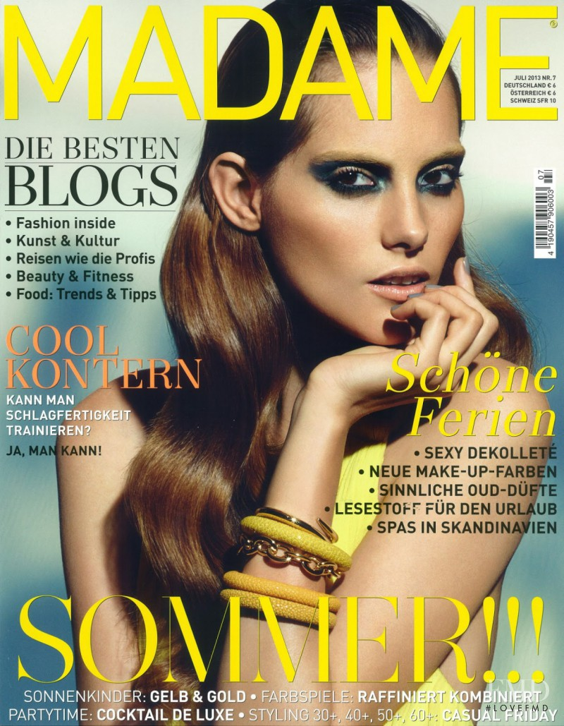 Marina Jamieson featured on the Madame cover from July 2013