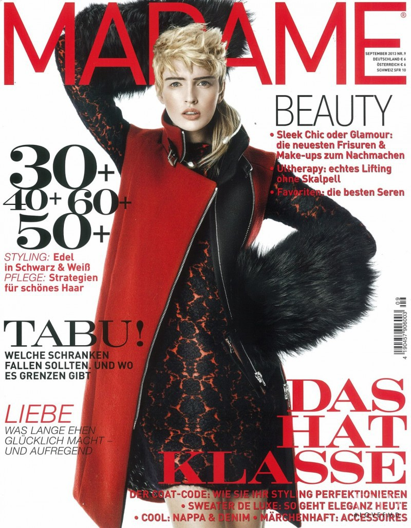 Agata Rudko featured on the Madame cover from September 2013