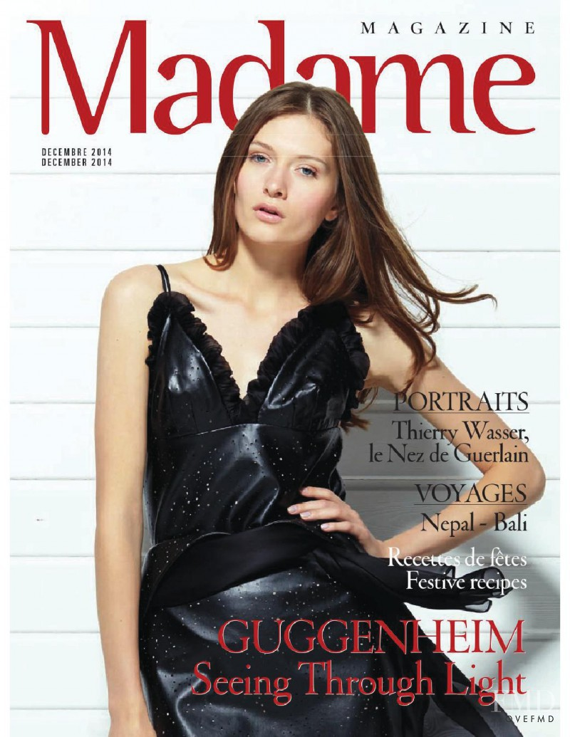 Vlada Willow featured on the Madame cover from December 2014