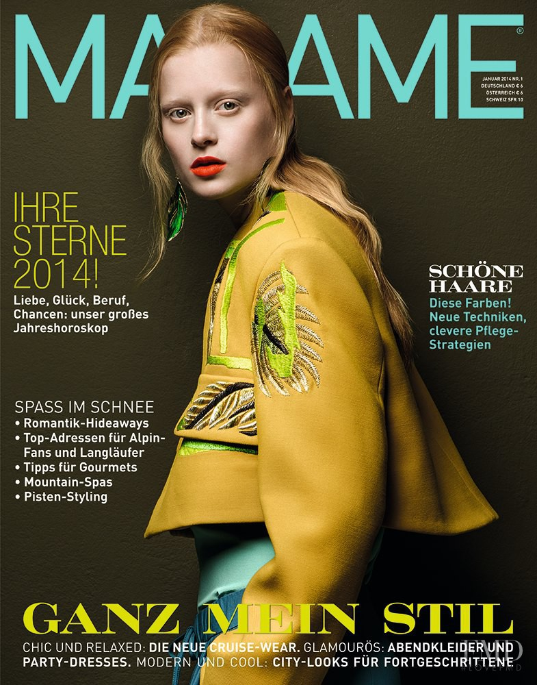 Lykke Jönsson featured on the Madame cover from January 2014