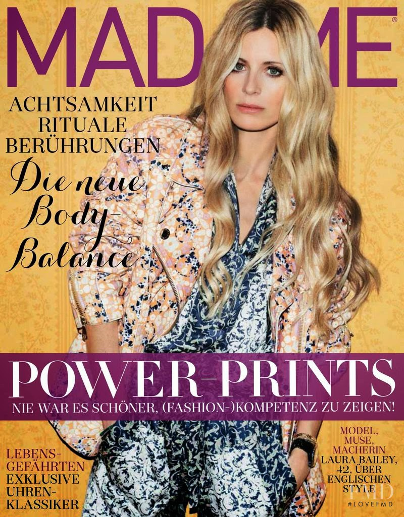 Laura Bailey featured on the Madame cover from October 2014