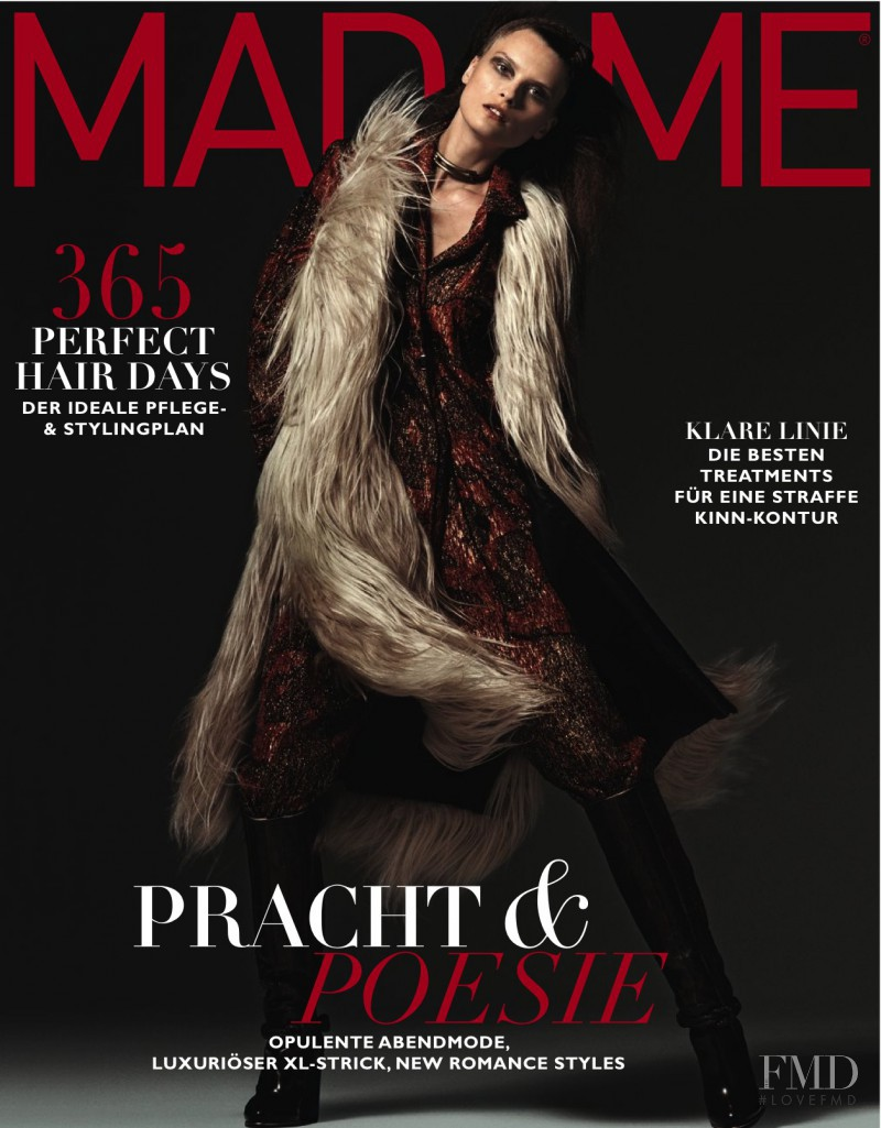 Elena Melnik featured on the Madame cover from November 2015