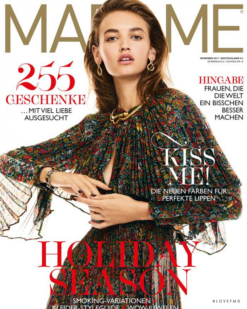 Beatrice Brusco featured on the Madame cover from December 2017