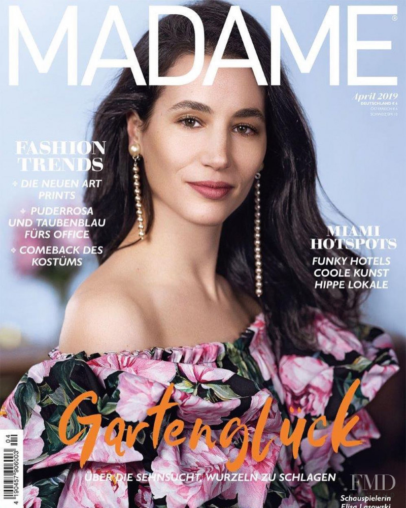 Elisa Lasowski featured on the Madame cover from April 2019