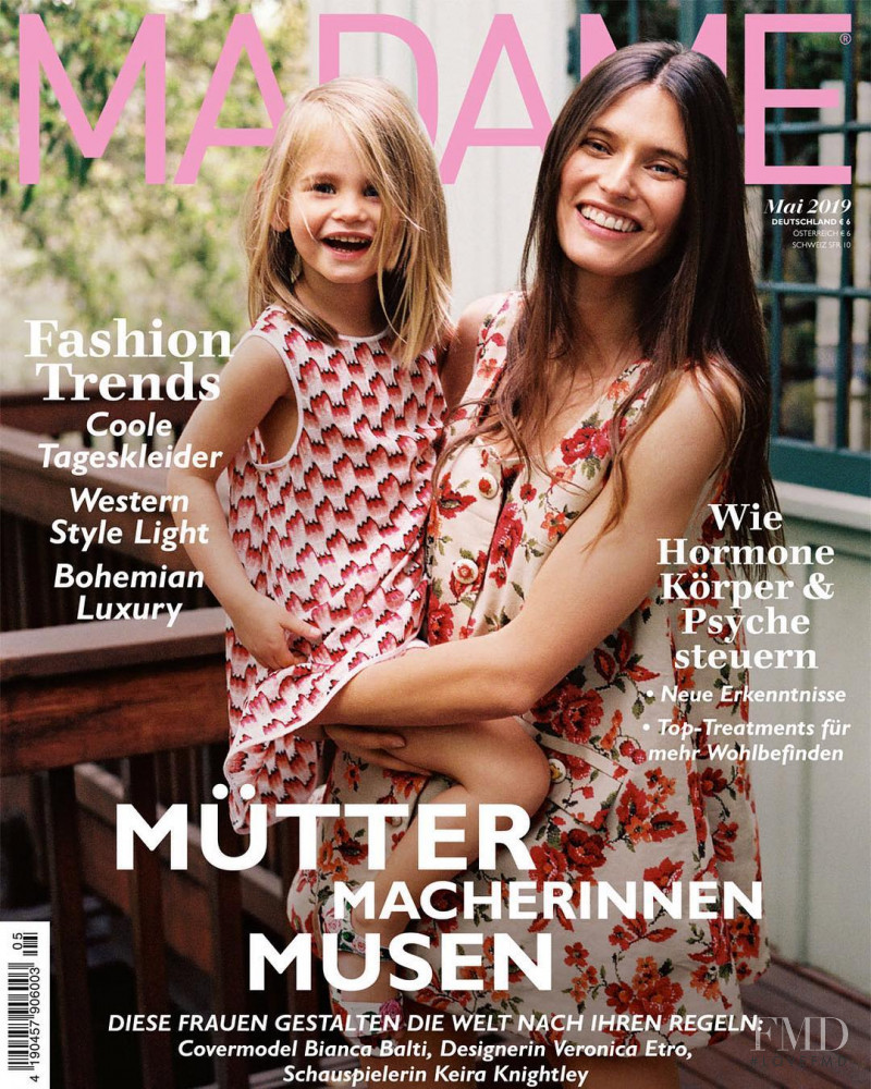 Bianca Balti featured on the Madame cover from May 2019
