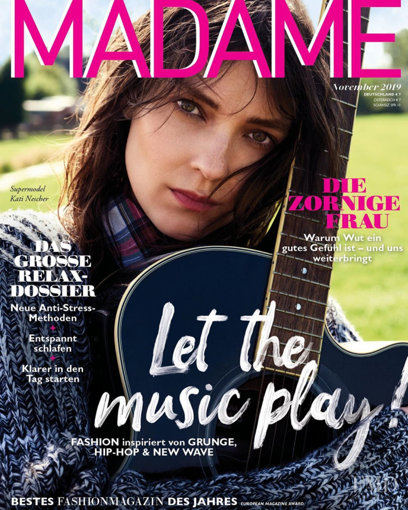 Kati Nescher featured on the Madame cover from November 2019