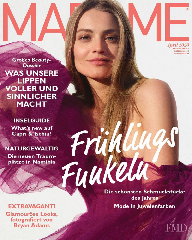 Anna Maria Jagodzinska featured on the Madame cover from April 2020