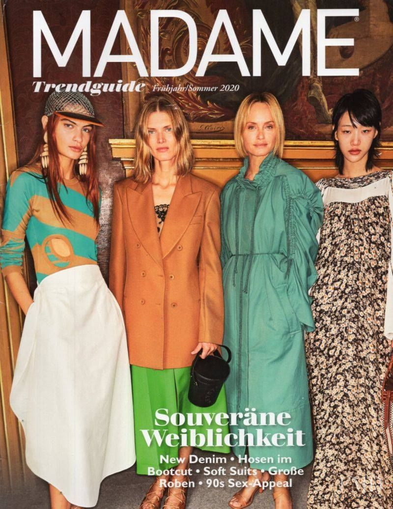 Amber Valletta featured on the Madame cover from February 2020