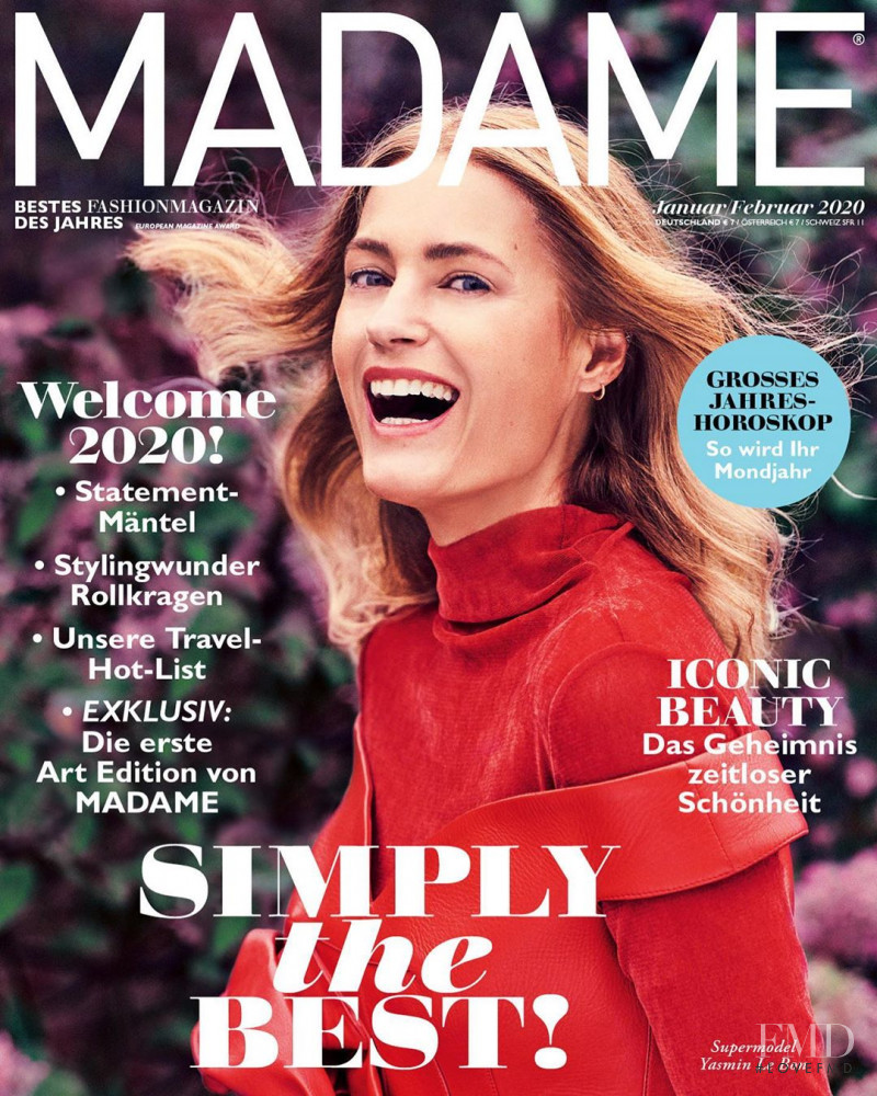 Yasmin Le Bon featured on the Madame cover from January 2020