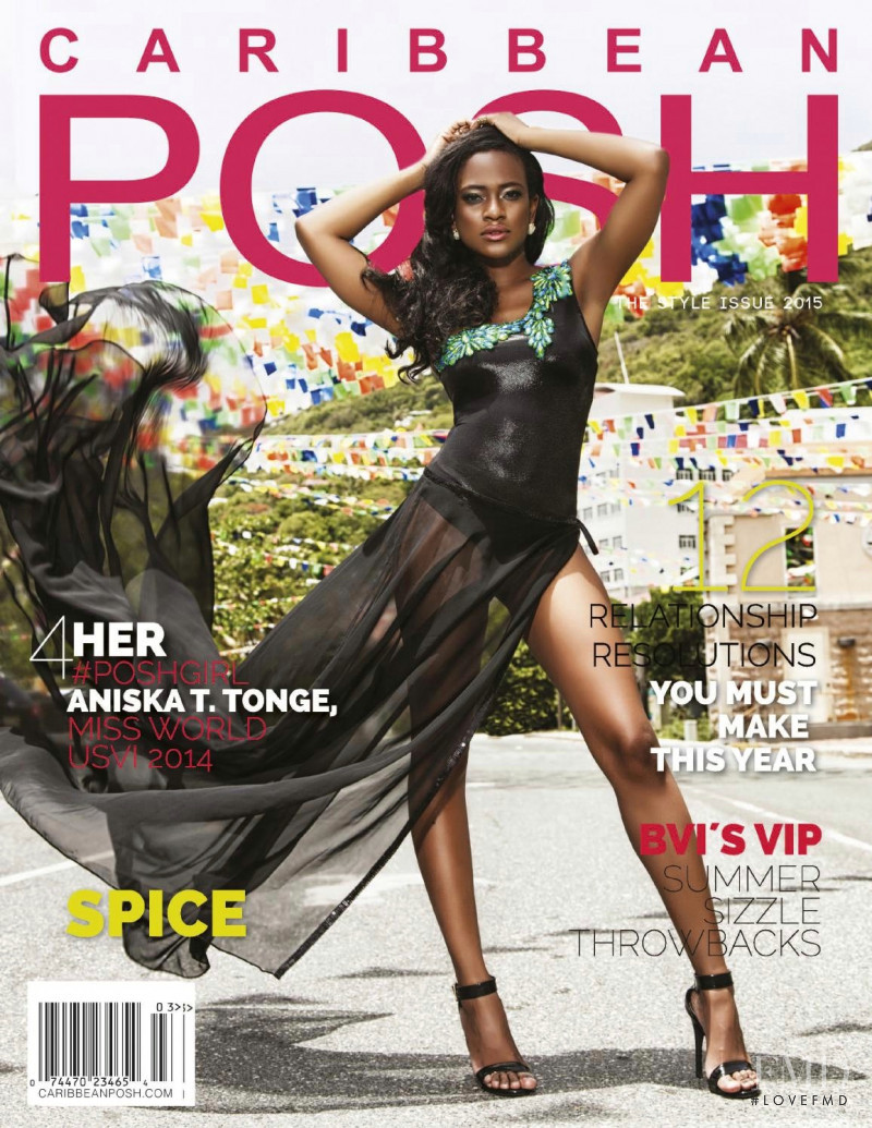 Aniska Tonge featured on the Caribbean Posh cover from May 2015