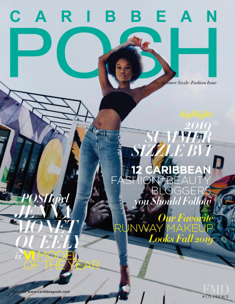 Jenna Monet Queely featured on the Caribbean Posh cover from August 2019