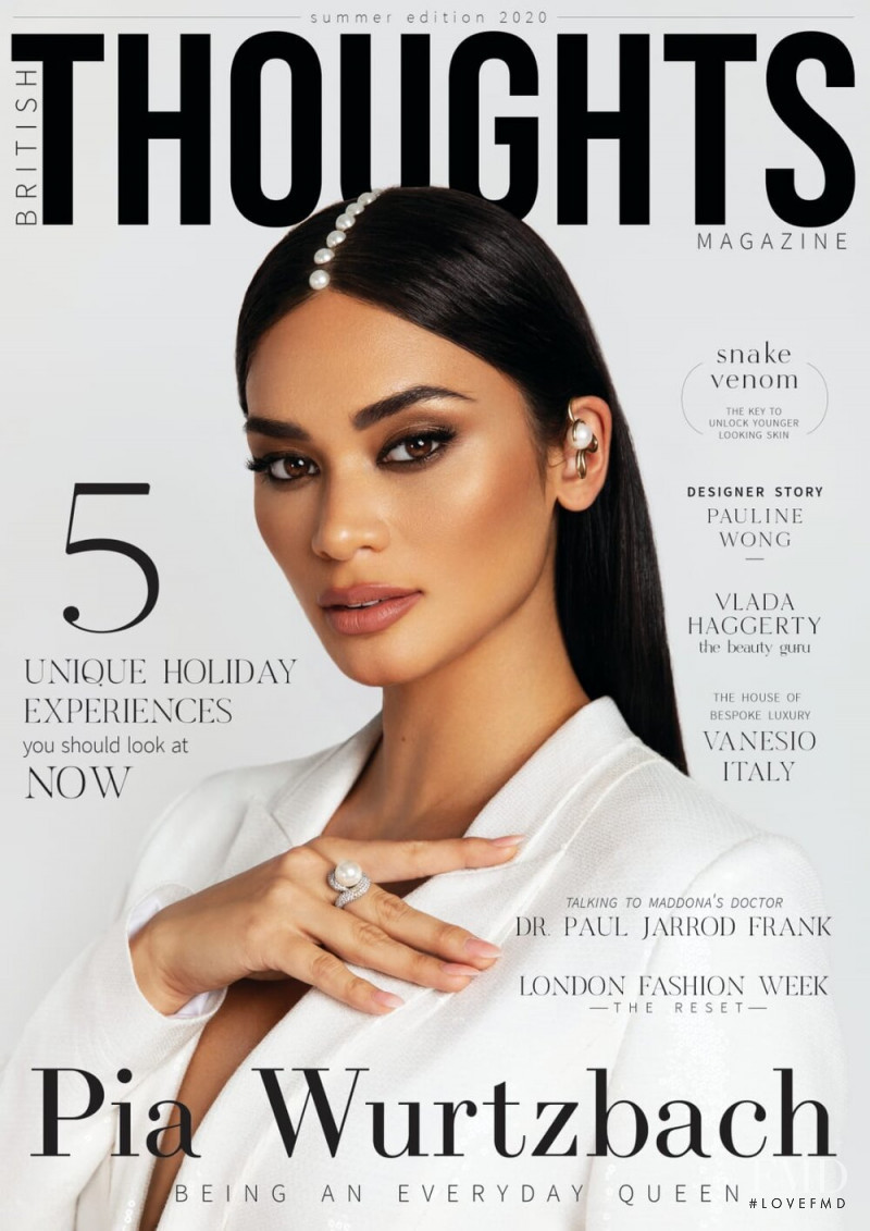 Pia Wurtzbach featured on the British Thoughts Magazine cover from June 2020