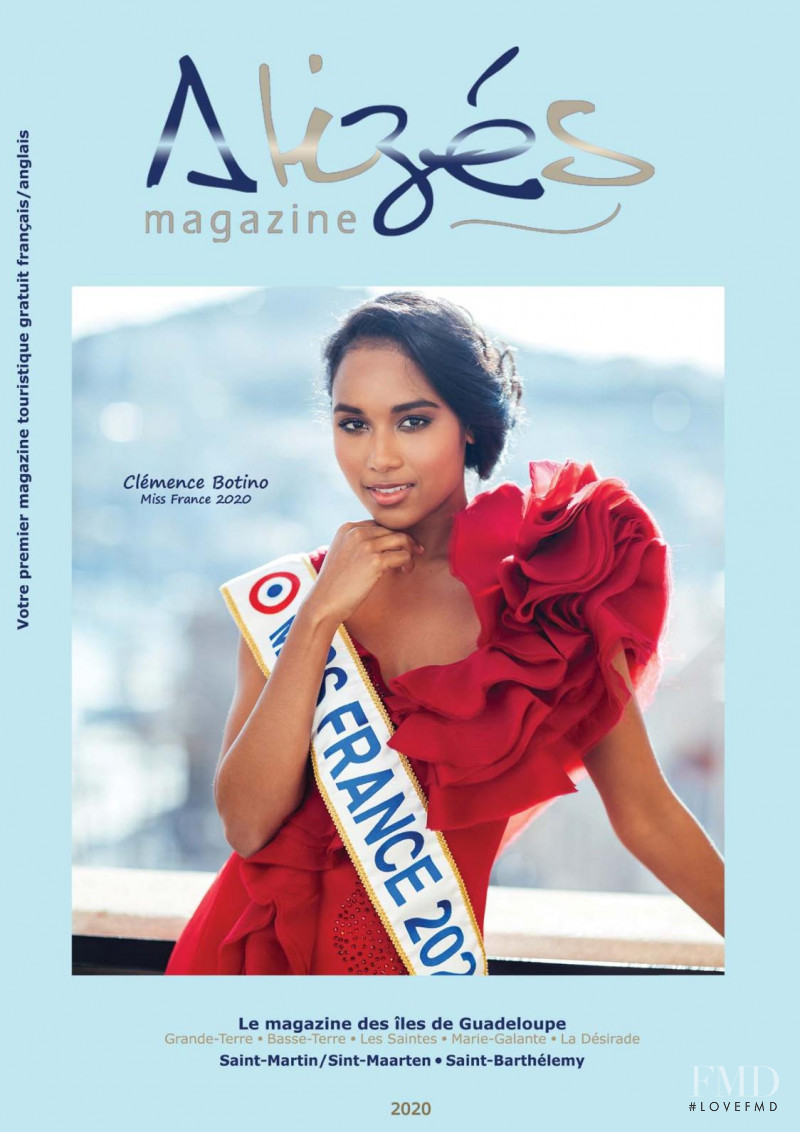 Clemence Botino featured on the Alizes Magazine cover from July 2020