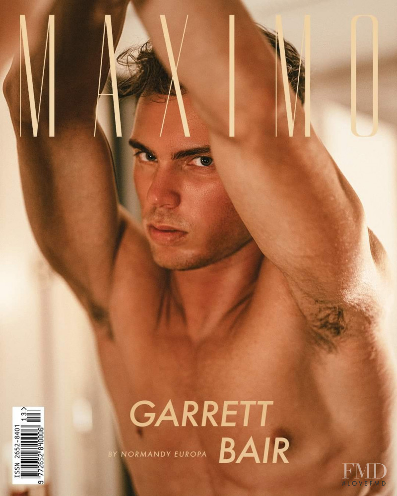 Garrett Bair featured on the Maximo cover from April 2021
