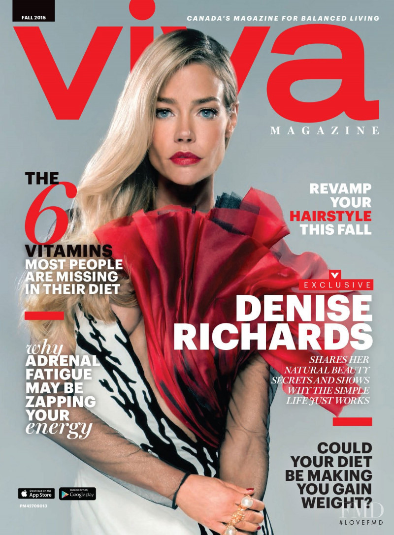 Denise Richards featured on the Viva Canada cover from September 2015
