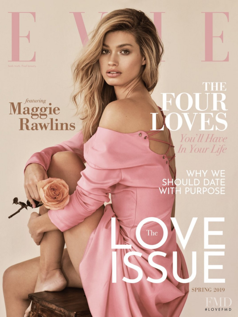 Maggie Rawlins featured on the Evie cover from February 2019