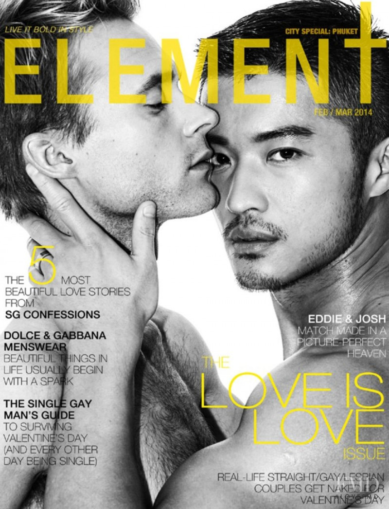 Josh Tayler, Edison Fanye featured on the Element cover from February 2014