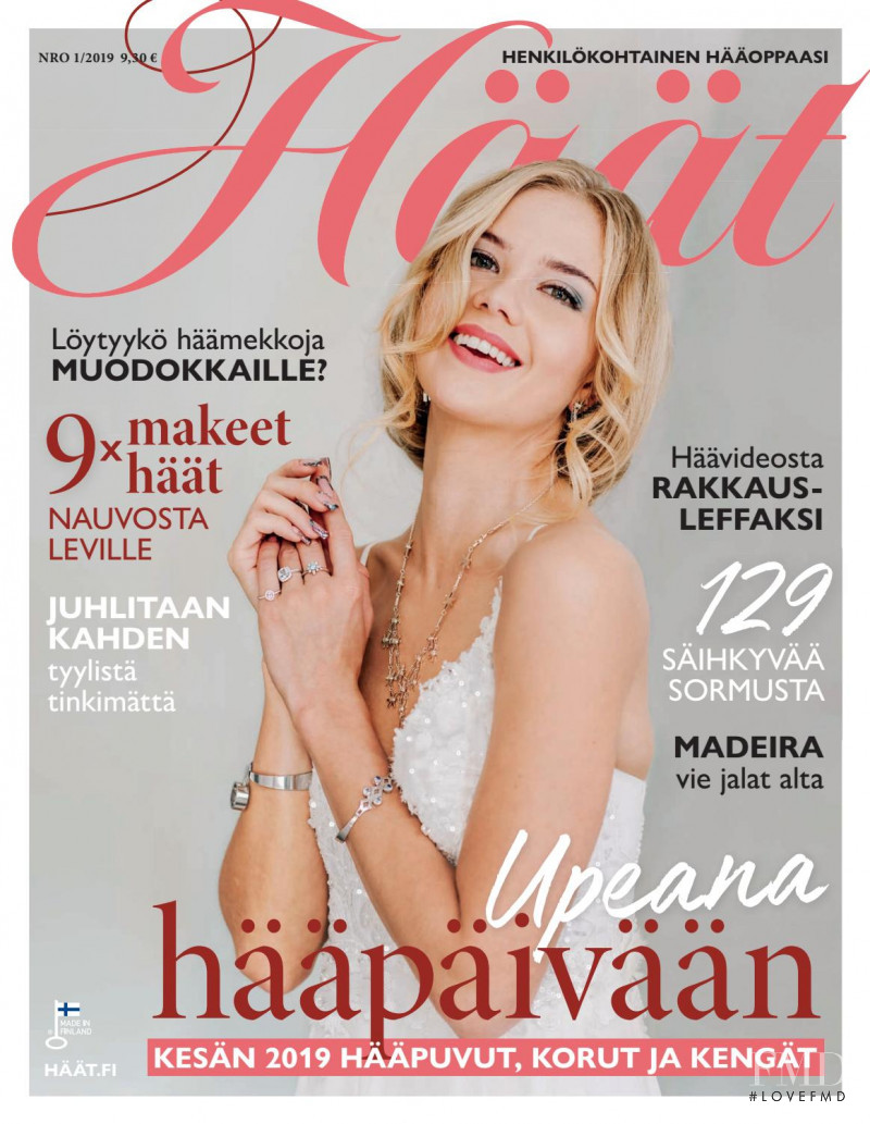Pihla Koivuniemi featured on the Haat Wedding cover from January 2019