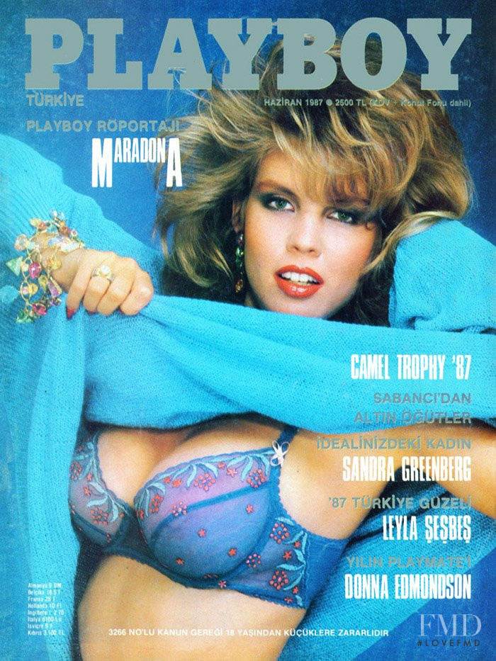 Donna Edmondson featured on the Playboy Turkey cover from June 1987