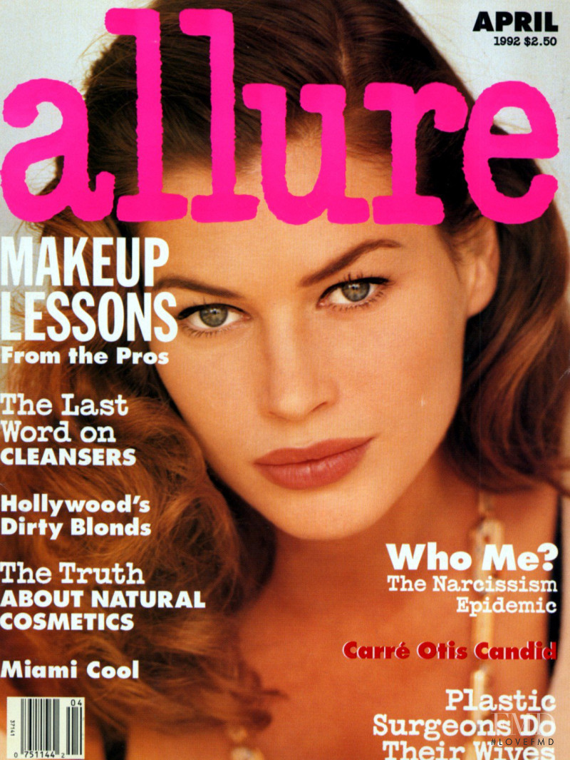 Carre Otis featured on the Allure cover from April 1992
