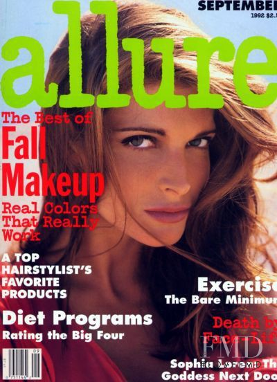 Stephanie Seymour featured on the Allure cover from September 1992