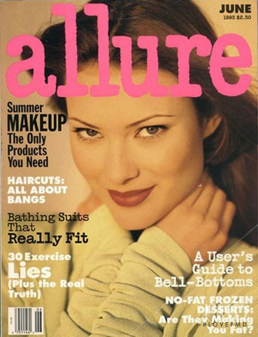 Shalom Harlow featured on the Allure cover from June 1993