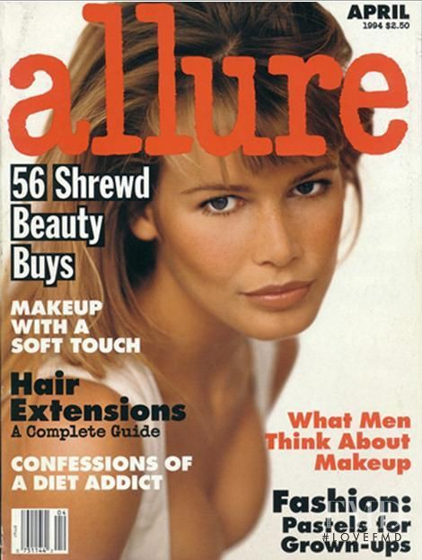 Claudia Schiffer featured on the Allure cover from April 1994