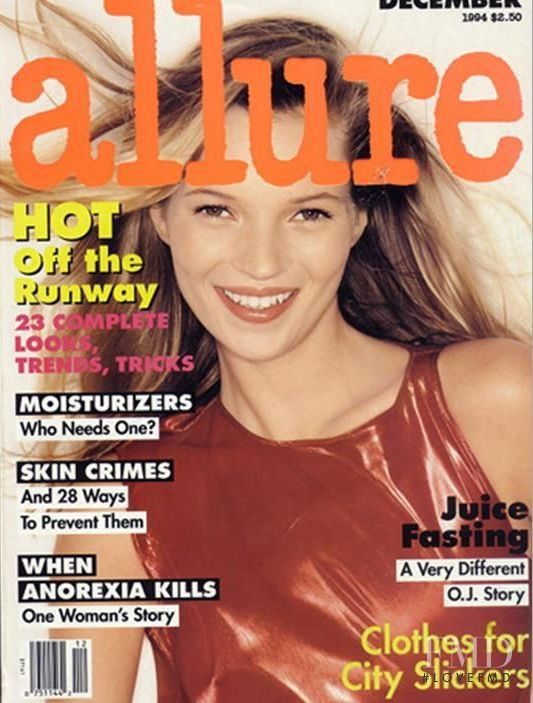 Kate Moss featured on the Allure cover from December 1994