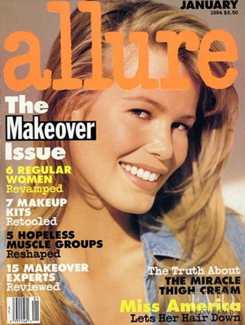 Claudia Schiffer featured on the Allure cover from January 1994