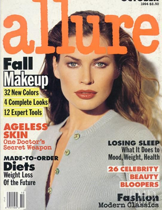 Carre Otis featured on the Allure cover from October 1994