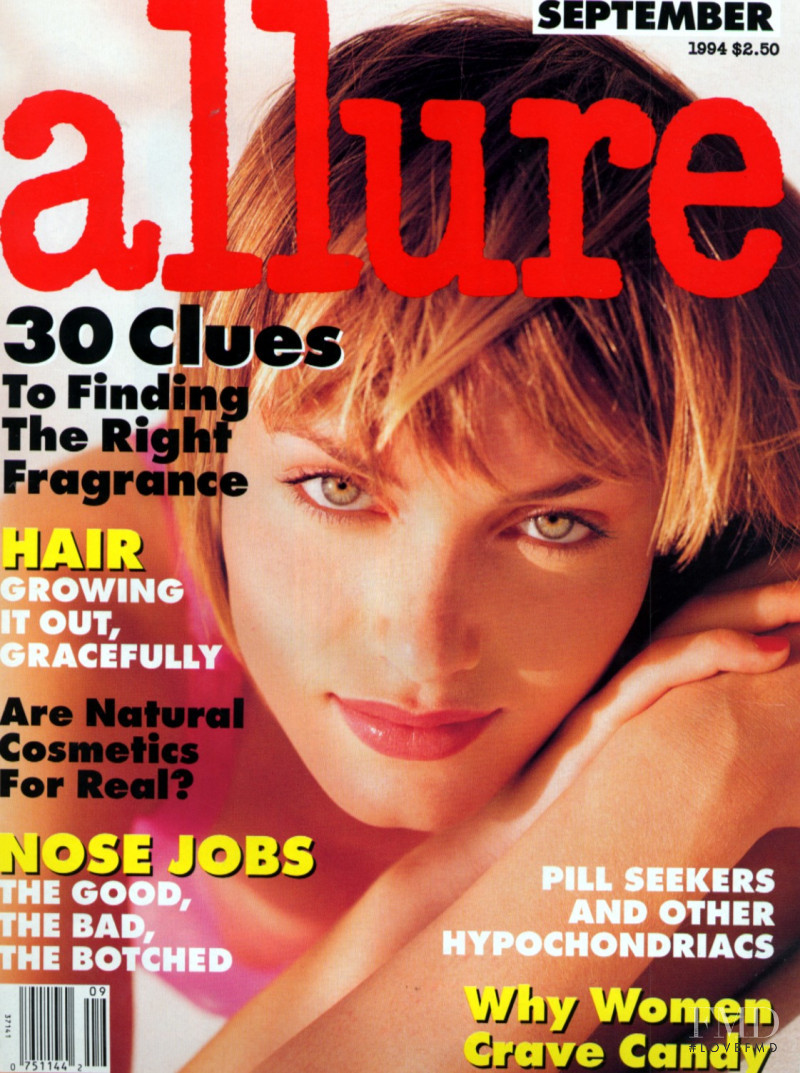 Amber Valletta featured on the Allure cover from September 1994